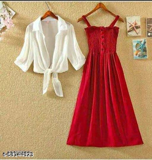 Dress with shrug for womens