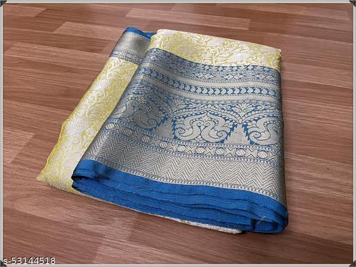 Stylish tissue silk brocade saree