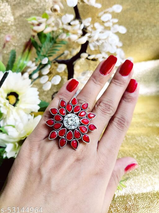 Adjustable Stylish Ring for Women  Size: Adjustable Style: Ethnic Wear Western Wear Casual Wear Party / Picnic etc.. Weight: Light Weight