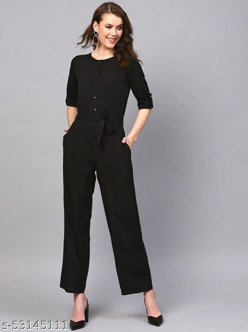 GBM Women's crepe printed Jumpsuits
