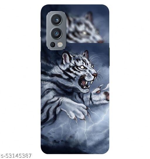 CreativeSoul ''Angry Tiger'' Printed Hard Back Case For OnePlus Nord 2 5G / 1+Nord 2 5G, Designer Cases & Covers For Your Smartphones