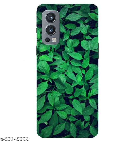 CreativeSoul ''Green Leaves'' Printed Hard Back Case For OnePlus Nord 2 5G / 1+Nord 2 5G, Designer Cases & Covers For Your Smartphones