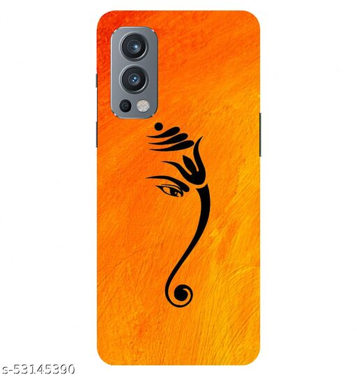 CreativeSoul  Lord ''Ganesha'' -(Yellow-Orange) Printed Hard Back Case For OnePlus Nord 2 5G / 1+Nord 2 5G, Designer Cases & Covers For Your Smartphones