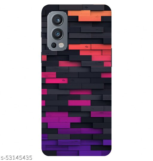 CreativeSoul ''Wooden Tiles'' -(Pink-Black-Purple) Printed Hard Back Case For OnePlus Nord 2 5G / 1+Nord 2 5G, Designer Cases & Covers For Your Smartphones