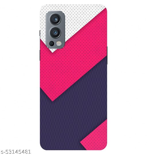 CreativeSoul ''White Pink Pattern'' Printed Hard Back Case For OnePlus Nord 2 5G / 1+Nord 2 5G, Designer Cases & Covers For Your Smartphones