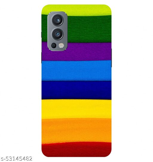CreativeSoul ''Multicolor Stripes Pattern'' Printed Hard Back Case For OnePlus Nord 2 5G / 1+Nord 2 5G, Designer Cases & Covers For Your Smartphones