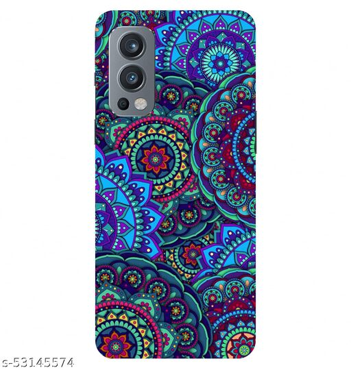 CreativeSoul ''Colorful Background-with Pattern Circular Mandalas''' Printed Hard Back Case For OnePlus Nord 2 5G / 1+Nord 2 5G, Designer Cases & Covers For Your Smartphones