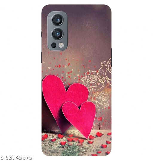 CreativeSoul ''Couple Heart with Rose Petals'' Printed Hard Back Case For OnePlus Nord 2 5G / 1+Nord 2 5G, Designer Cases & Covers For Your Smartphones