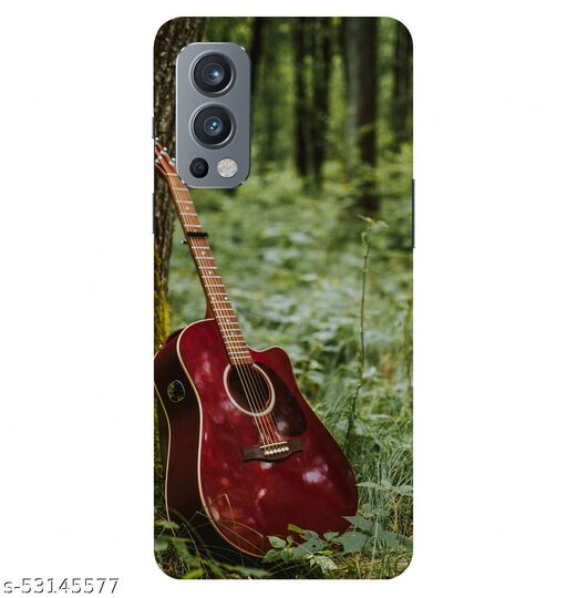 CreativeSoul ''Dark Red Guitar'' Printed Hard Back Case For OnePlus Nord 2 5G / 1+Nord 2 5G, Designer Cases & Covers For Your Smartphones