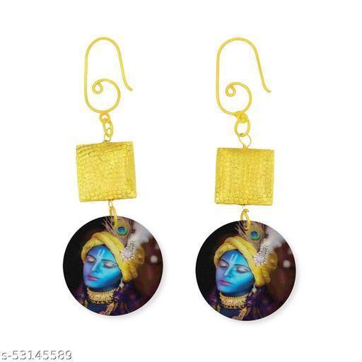 Sayaani Double Layer Gold Finish Dangling Earrings