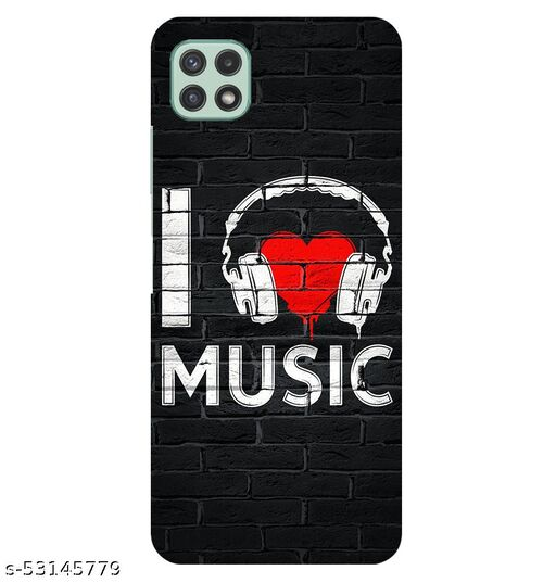 CreativeSoul ''I Love Music'' Printed Hard Back Case For Samsung Galaxy A22 5G, Designer Cases & Covers For Your Smartphones