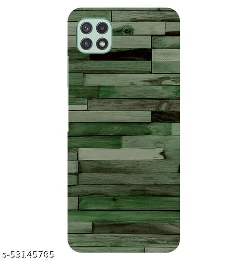 CreativeSoul ''Green Wooden Wall'' Printed Hard Back Case For Samsung Galaxy A22 5G, Designer Cases & Covers For Your Smartphones