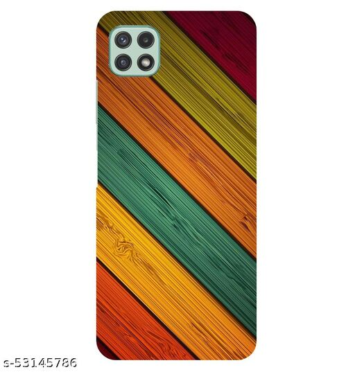CreativeSoul ''Colorful Wooden'' Printed Hard Back Case For Samsung Galaxy A22 5G, Designer Cases & Covers For Your Smartphones