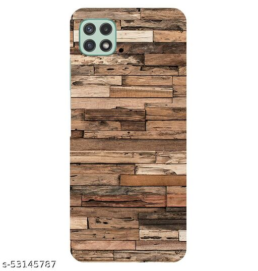 CreativeSoul ''Wooden Tiles'' Printed Hard Back Case For Samsung Galaxy A22 5G, Designer Cases & Covers For Your Smartphones