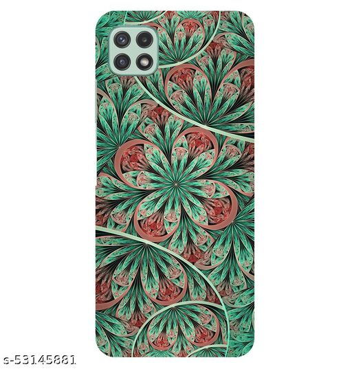 CreativeSoul ''Green Flower Mandala Tiles'' Printed Hard Back Case For Samsung Galaxy A22 5G, Designer Cases & Covers For Your Smartphones