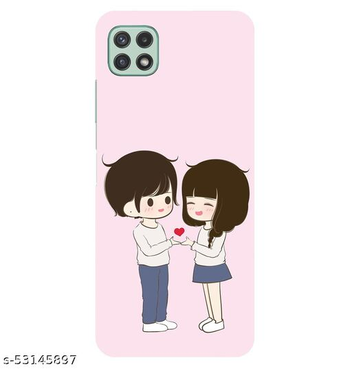CreativeSoul ''Girl and Boy Holding Heart'' Printed Hard Back Case For Samsung Galaxy A22 5G, Designer Cases & Covers For Your Smartphones