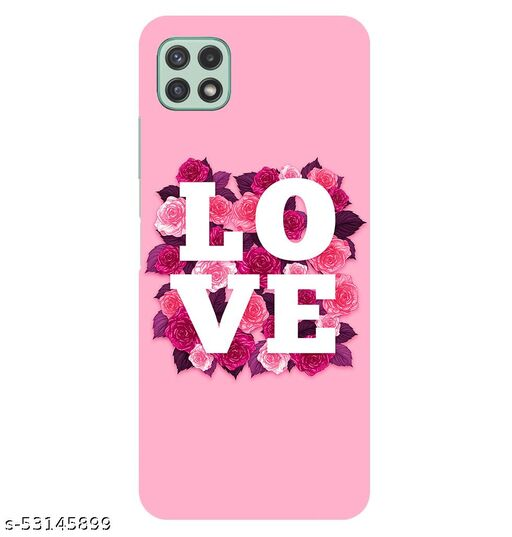 CreativeSoul ''LOVE'' Printed Hard Back Case For Samsung Galaxy A22 5G, Designer Cases & Covers For Your Smartphones