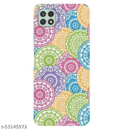 CreativeSoul '''Colorful Background-with Pattern Circular Mandalas''' Printed Hard Back Case For Samsung Galaxy A22 5G, Designer Cases & Covers For Your Smartphones