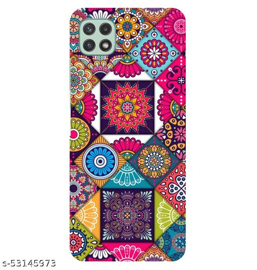 CreativeSoul ''Colorful Ethnic Tiles Pattern'' Printed Hard Back Case For Samsung Galaxy A22 5G, Designer Cases & Covers For Your Smartphones