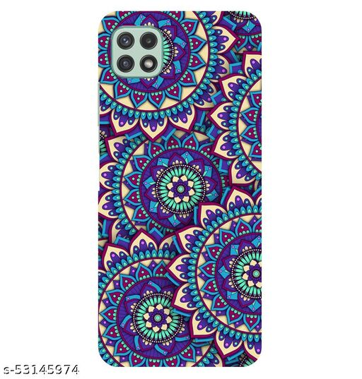 CreativeSoul '''Colorful Background-with Pattern Circular Mandalas' Printed Hard Back Case For Samsung Galaxy A22 5G, Designer Cases & Covers For Your Smartphones