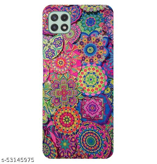 CreativeSoul'''Colorful Background-with Pattern Circular Mandalas''' Printed Hard Back Case For Samsung Galaxy A22 5G, Designer Cases & Covers For Your Smartphones