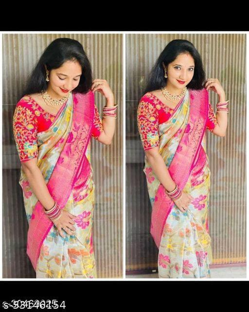 Trendy banarasi tissue saree