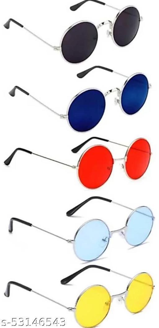 SUMMER DREAM STYLISH ROUND UV PROTECTED SUNGLASSES FOR MEN WOMEN