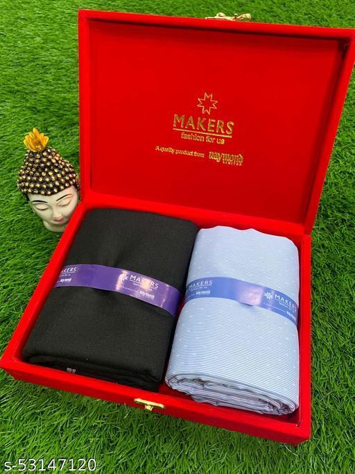 Raymond Shirt Pant Fabric in Velvet Box Combo