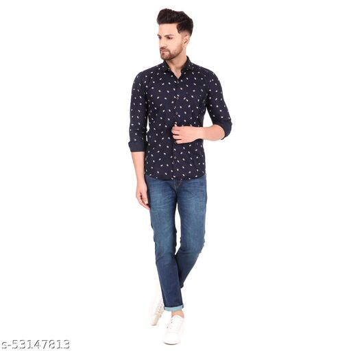 Unique Style Kery Printed Cotton Full Sleeves Shirt