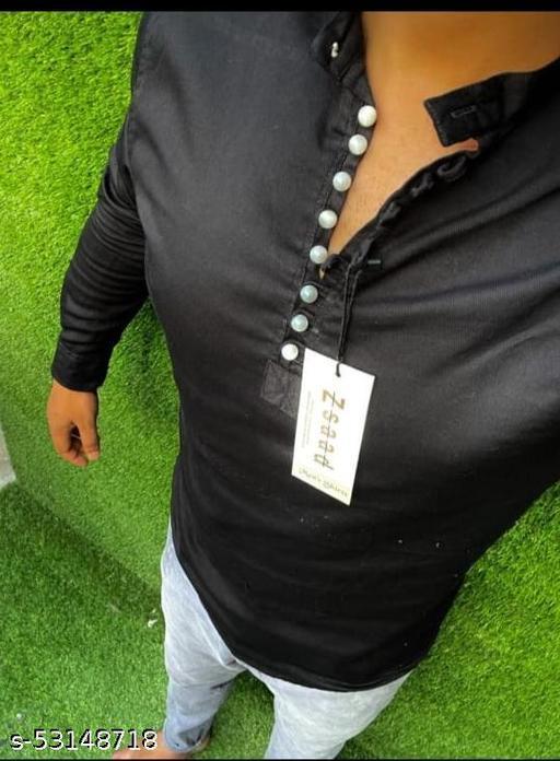 Stylish cotton short kurta for men