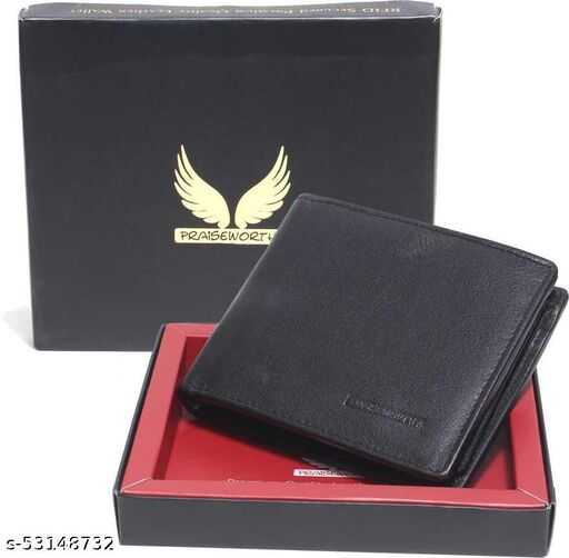 RFID Secured Multiple Card Slot, Flap ID Window, Snap Button Closure Coin Pocket, Multi-functional  Leather Wallet for Men.