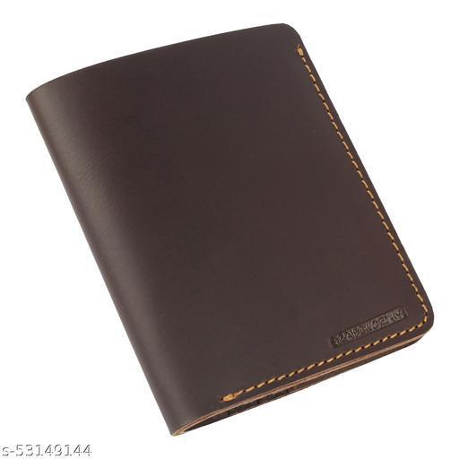Genuine Hunter Leather Minimalist Handmade Raw Leather Wallet for Men