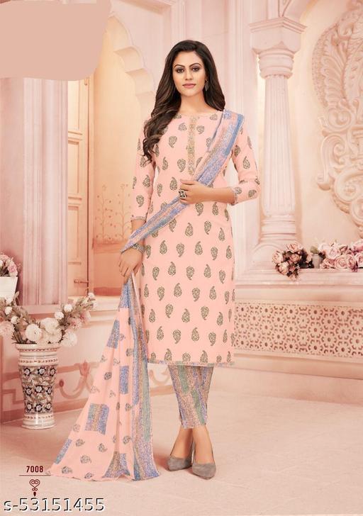 Krachi cotton printed dress material