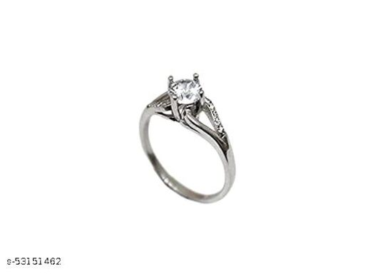 designed by Saumya's Sterling Silver Zircon Sparkling Loop Ring for Women