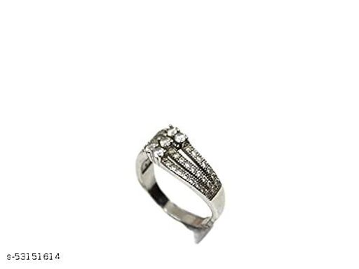 designed by Saumya's Sterling Silver Zircon Loop Ring   Rings for Women and Girls