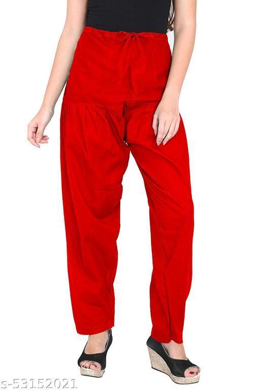 """Cotton Blend Solid Women [""""Red""""] Salwar"""
