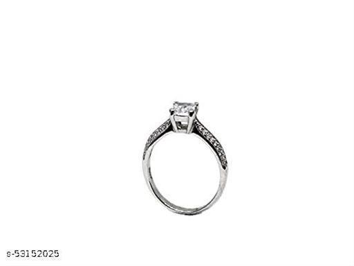 designed by Saumya's 92.5 Sterling Zircon Sparkling Loop Ring   Rings for Girls
