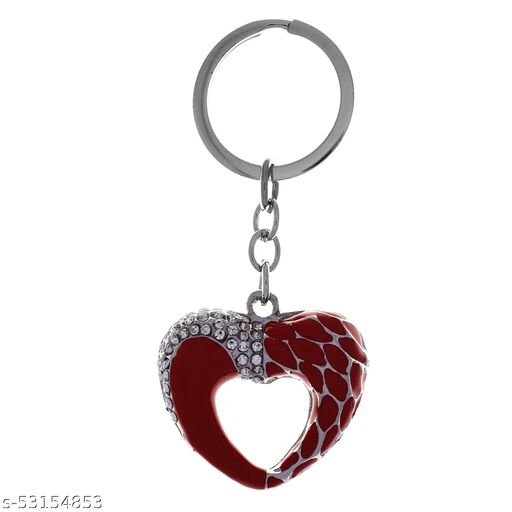 Gehna by RTS Crystal Red Heart Shape Key chain