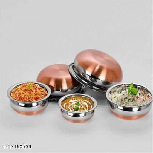 Stainless Steel Copper Bottom Prabhu Chetty/Handi