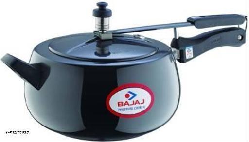 BAJAJ BAJAJ PCX 65HD Handi Anodized Induction Base PCX 65HD 5 L Induction Bottom Pressure Cooker  (Hard Anodized)