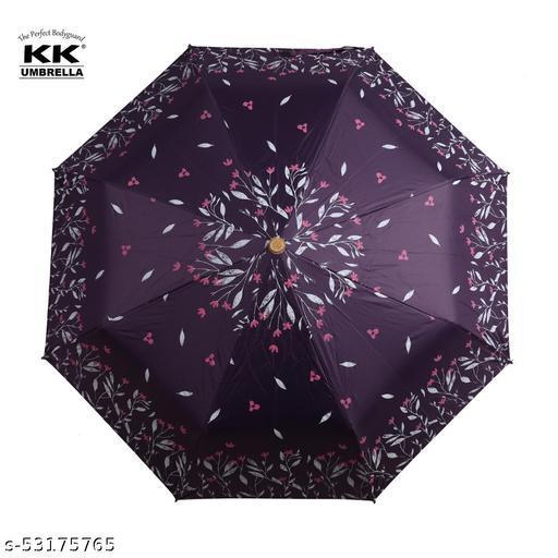 KK 3-Fold Floral Design Umbrella - Purple