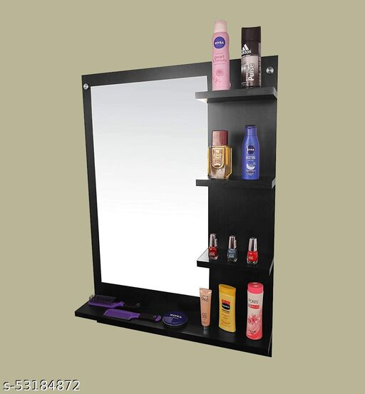 Dime Store Wall Mirror with Shelf for Living Room Bedroom Dressing Mirror for Wall Decor