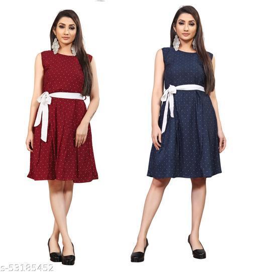 KHUSHI Women A-line Multicolor Dress