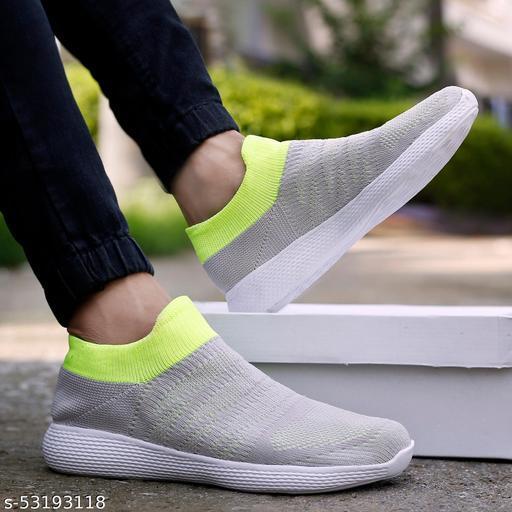 Zorik Men's Grey Mesh Casual Shoes