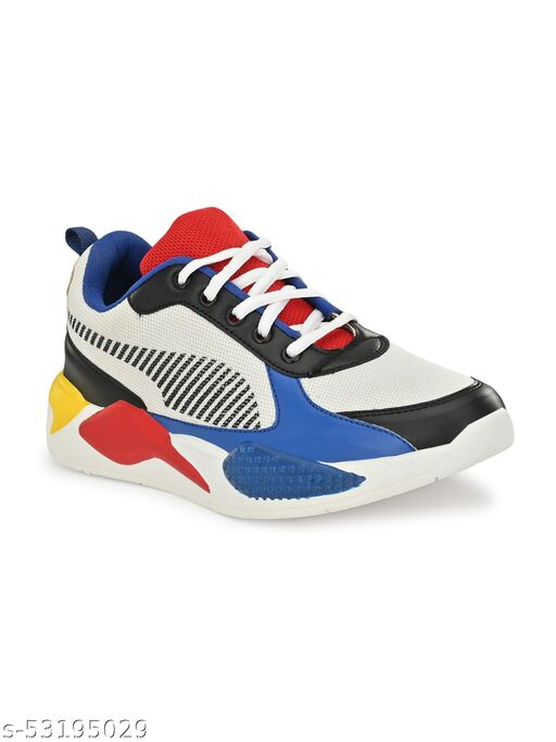 Zorik Men's White Mesh Casual Shoes