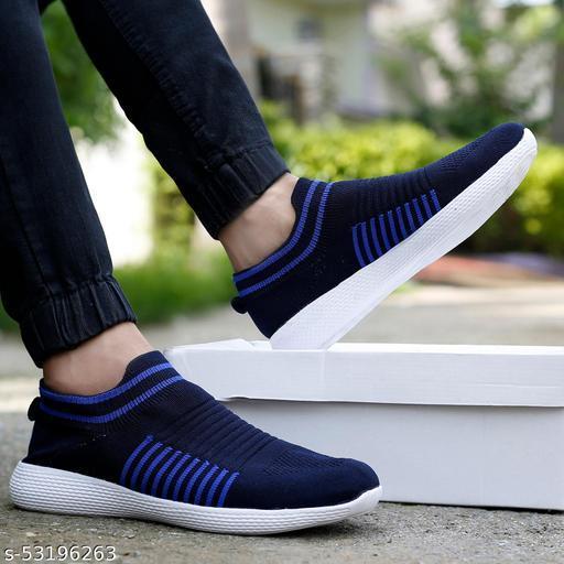 Zorik Men's Blue Mesh Slip On Casual Shoe