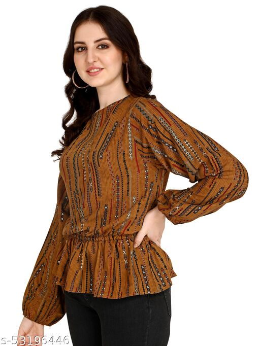 New Desinger Women's Cotton Sulb Printed Tops