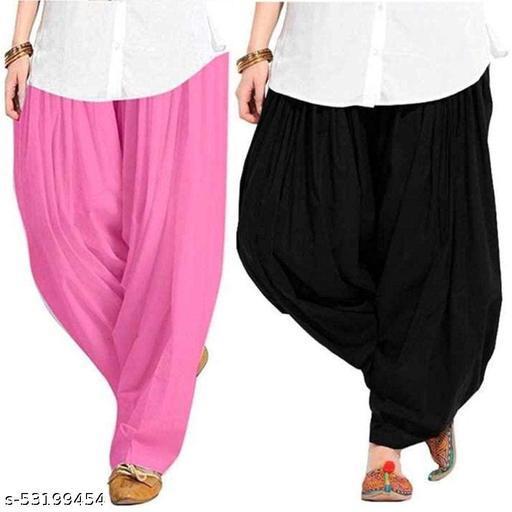 Dark Cottton 100% Pure Cotton Patialas Salwar For Girls & Women