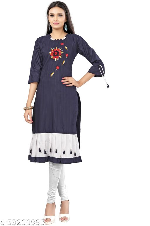 Women's Rayon linen Kurta