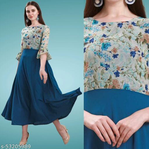 Designer Fully Stitched Gown